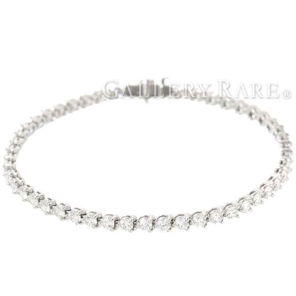 ハリーウィンストン ブレスレット ラウンド・テニスブレスレット ダイヤモンド 総計4.865ct プラチナ950 PT950 K18WGホワイトゴールド HARRY WINSTON ジュエリー ダイアモンド