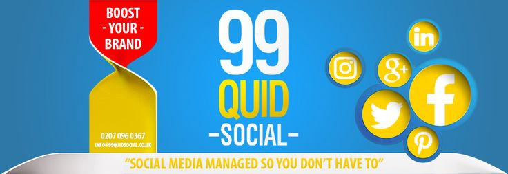Hand-crafted, relevant posts daily on #socialmedia channels. No bots or #spam from 99 Quid Social. Boost your brand! http://www.99quidsocial.co.uk/#utm_sguid=148230,920e4ea6-c61a-e871-6869-501a65f265f1