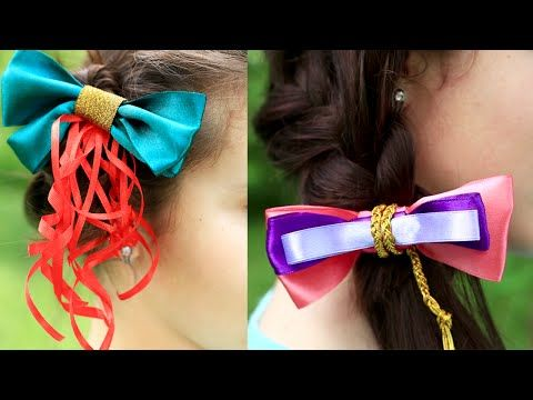 In our new amazing tutorial we'll craft gorgeous princess style Disney hair bows. These fabulous DIY  accessories for girls will help your child feel real princess! #hairbows #disneyprincess #diyaccessories