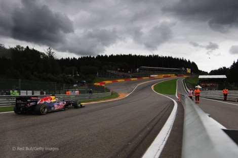 Spa Francorchamps, Belgium.  Specifically - Eau Rouge