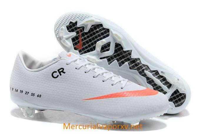 Nike Mercurial CR7 Veloce FG Soccer Cleats White Orange