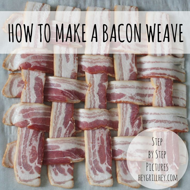 How to Make a Bacon Weave. Step by Step instructions and pictures.