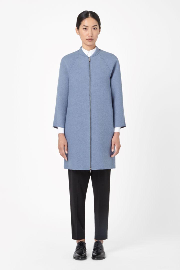 COS | Raw-cut wool coat - nothing blue skies ahead.