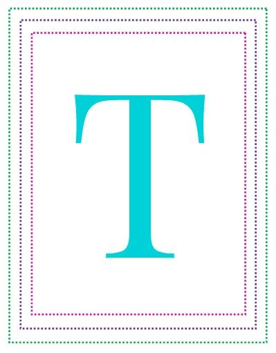 Free Printable Alphabet Letters A to Z