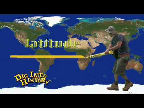 """Longitude and latitude lines, as well as the equator and prime meridian are explained in this clip from """"Dig Into History with California Jones: California Regions."""""""