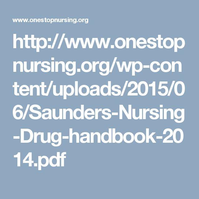 Saunders Nursing Drug Handbook 2014 PDF