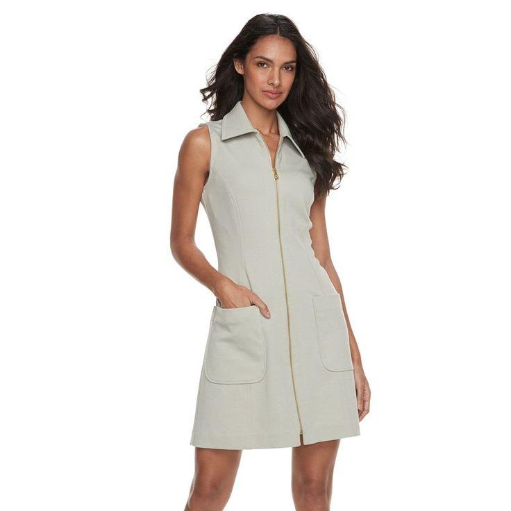 Women's Sharagano Ponte Shirtdress, Size: 14, Green Oth