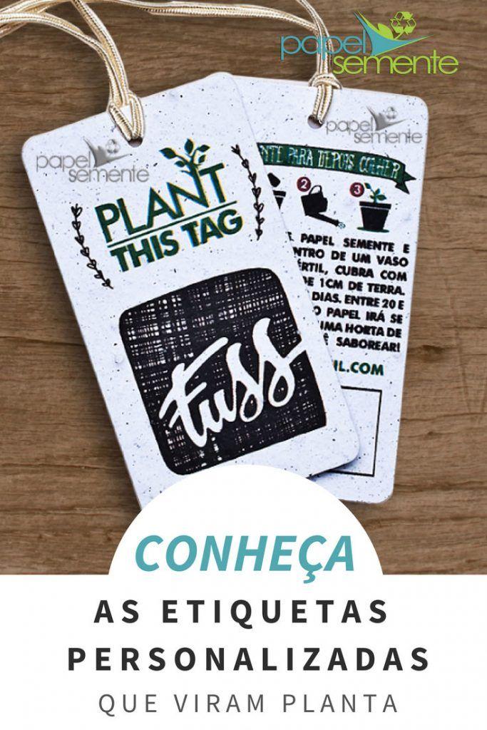 1bf3393537 Etiquetas Personalizadas para Roupas em Papel Semente Ecológico ...