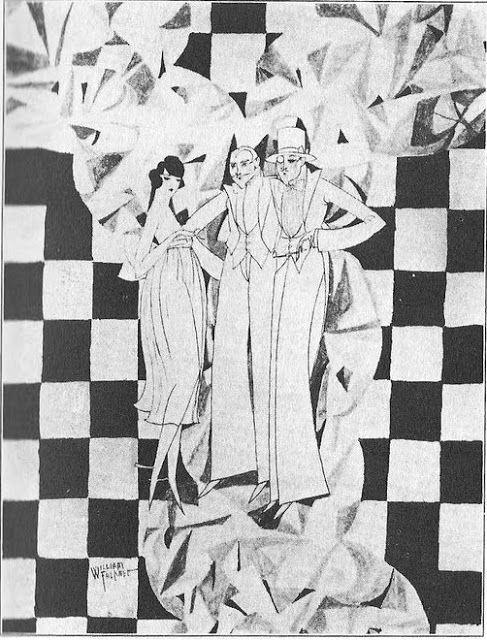 I disegni realizzati dallo scrittore sono caratterizzati dall'evidente influenza della Jazz Age e dell'Art déco e si ispirano perlopiù all'opera dell'illustratore ed esteta inglese Aubrey Beardsley (che Faulkner stimava tanto da riservargli un posticino anche nei suoi romanzi, basti pensare ad Absalom, Absalom!). #faulknerillustratore