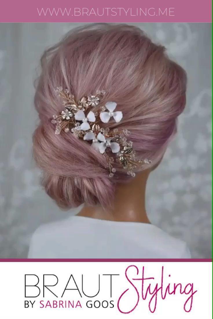 Schöne Frisur für Brautjungfern oder Bräute im Boho Stil.  # video #videotutorial #brautstyling #brautfrisur #hochsteckfrisur
