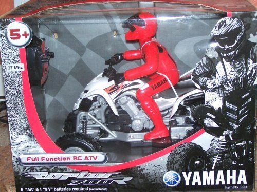 Yamaha Raptor 700R Full Function RC ATV (Colors May Vary) by Planet Toys. $39.99. This full-function Yamaha RC ATV is an authentically geared Yamaha Rider