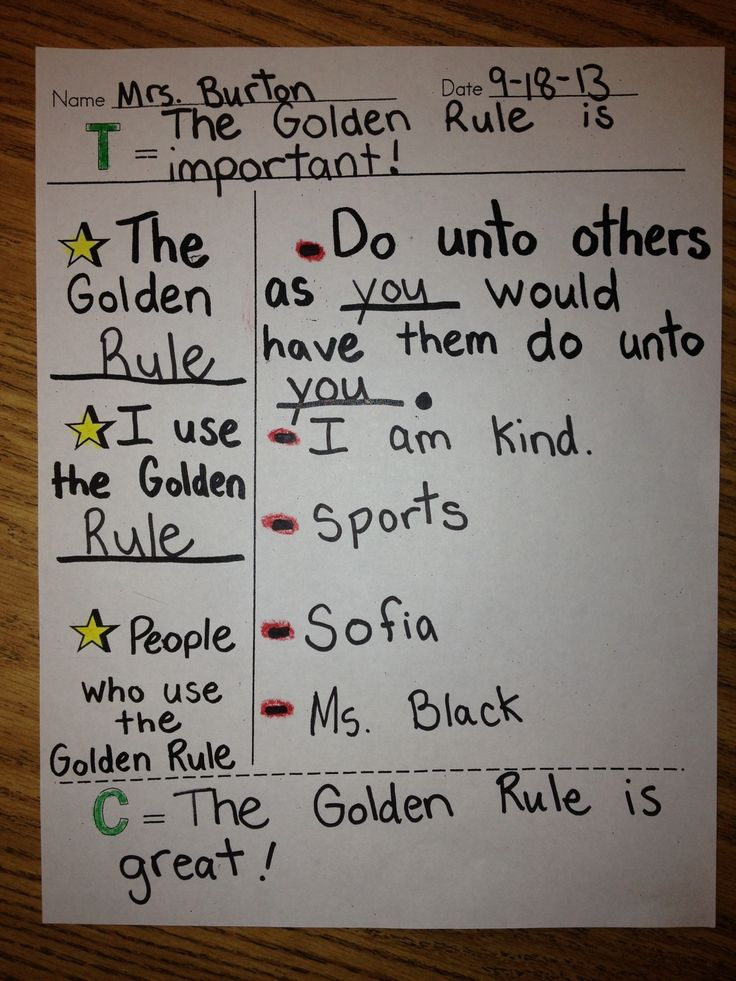 essay golden rule