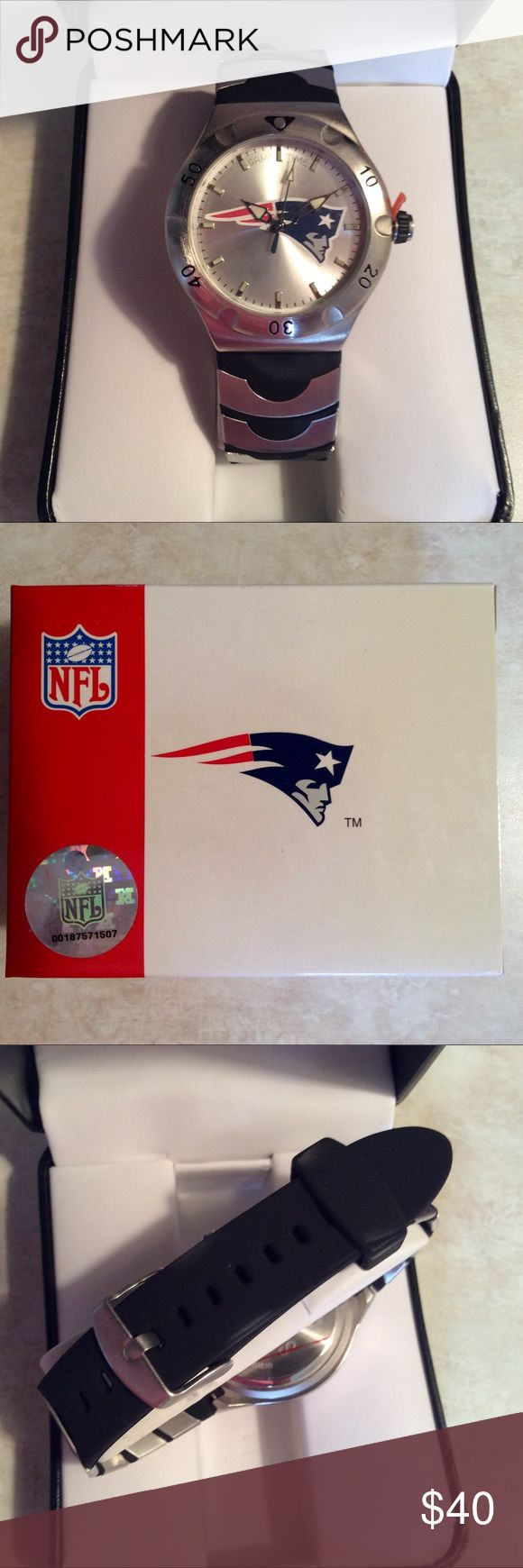 New England Patriots wrist watch NFL game time Nice NFL Avon watch made by game time rubber style wrist band quality made watch includes new battery, not installed NWT PRICE FIRM Game Time Accessories Watches