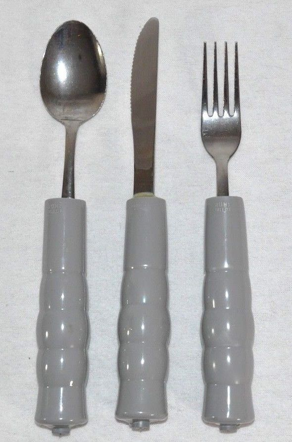 Hunt Wilde Weighted Fork Spoon Knife Set Utensil Special Needs Parkinson Tremors #HuntWilde