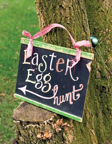 "Hide Easter eggs with prizes in them all over a playground.  Leave Easter egg baskets with a note saying ""Have an Easter egg hunt!"""