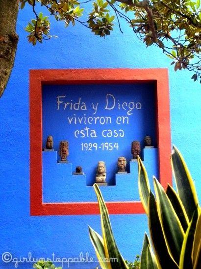"""Frida Kahlo's home, """"La Casa Azul"""" in Coyoacán, Distrito Federal, Ciudad México, México."""