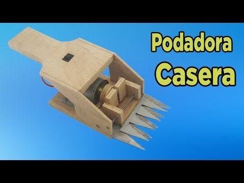 Cómo Hacer Una Podadora Eléctrica Casera  (Muy fácil de hacer) - YouTube
