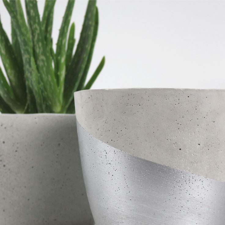 love the texture! #project001   #theDIYbox #concrete #concretepot #aloevera