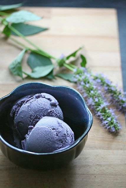 blueberry ice cream!