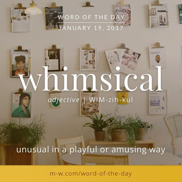whimsical merriamwebster dictionary language word