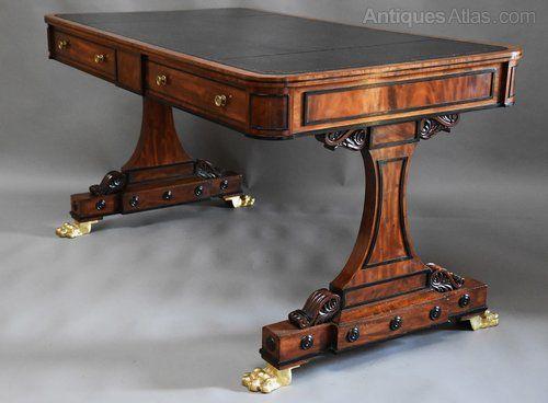 fine quality regency mahogany writing table antiques atlas