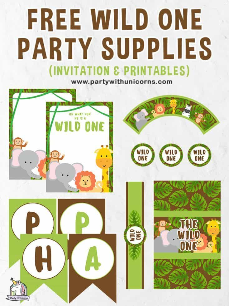 Wild One Party Printables Free Download Party Printables Free Happy Birthday Cards Printable Birthday Banner Free Printable