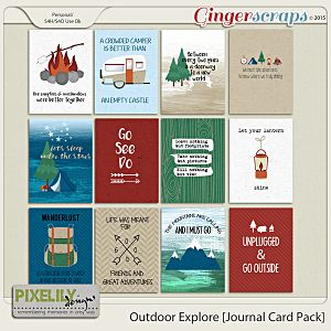 Outdoor Explore [Journal Card Pack]