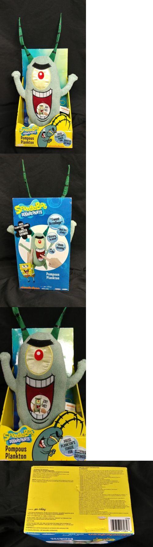 SpongeBob Squarepants 20919: Spongebob Square Pants Pompous Plankton Talking Stuffed Plush Doll Nickelodeon -> BUY IT NOW ONLY: $40 on eBay!