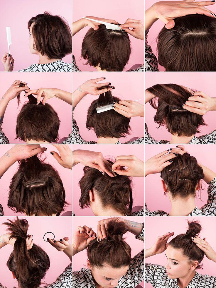 DIY BUN WITH BABY HAIR