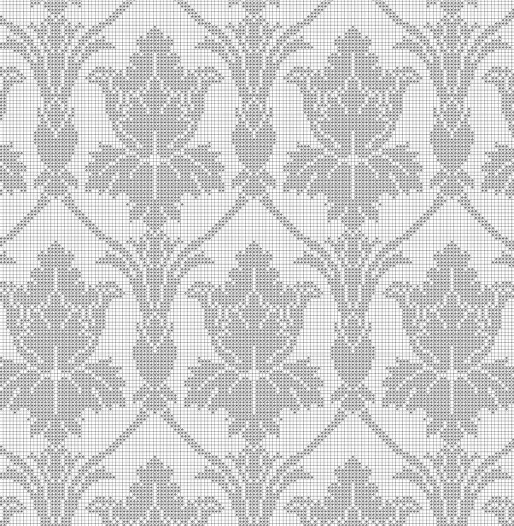 Sherlock 221b Wallpaper cross stitch pattern.