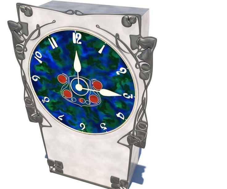 archibald knox clock 3d model max obj fbx mtl tga 2