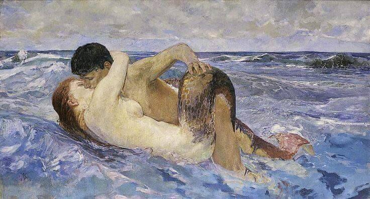 Max Klinger : La Sirena