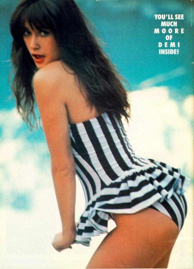 Demi Moore White Bikini