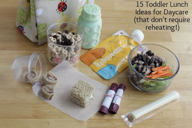 15 Toddler Lunch Ideas for Daycare that don't require reheating (via yummytoddlerfood.com)