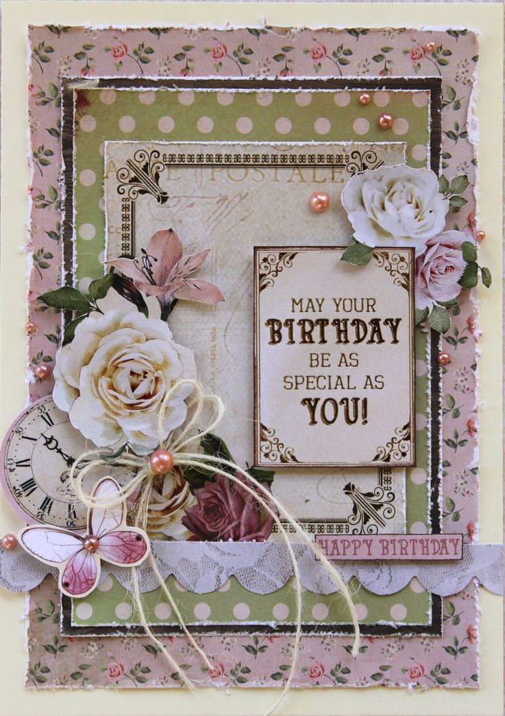 Kaisercraft Mademoiselle - Birthday Card