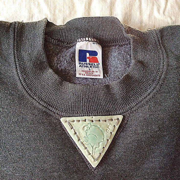 【on RUSSELL】OMA overdrawing sweatshirt 60 OMA gazette,triangle pottery OMA ガゼット トライアングルポッタリー dark gray L #_OMA#overdrawing#sweatshirt#softs#RUSSELL#gazette#pottery