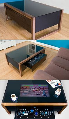 The Arcane Coffee Table Conceals a Geeky Secret - TechEBlog