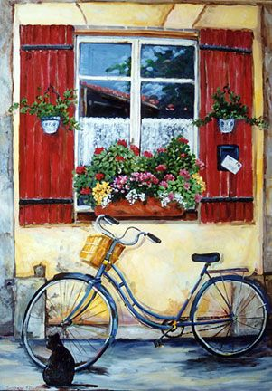 """""""Cat by Bicycle"""" by Suzanne Etienne"""