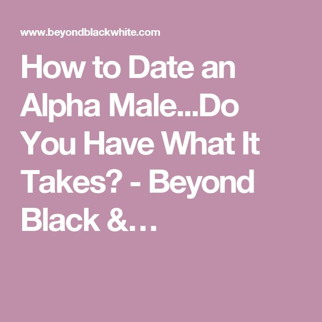 date alpha male have what takes