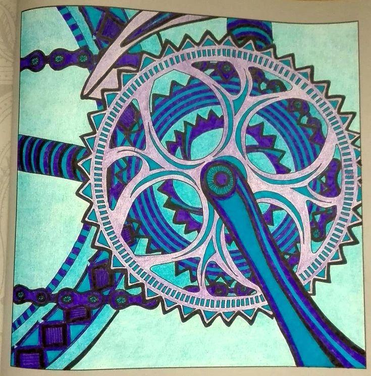 Finished: 27. 1. 2018; Source: Antistresove omalovanky pro dospele 1; Medium: Gioconda felt pens, Polycolor, blender