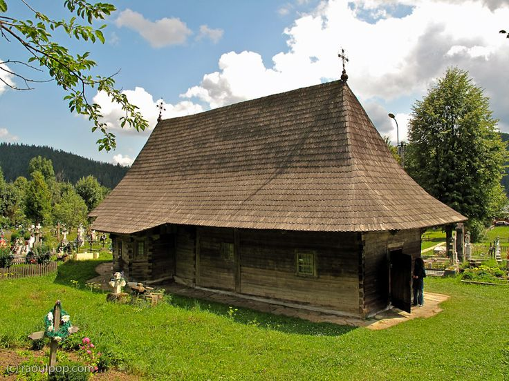 14th century wooden church near Putna, SV - Romania