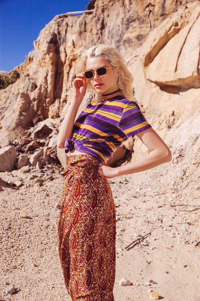 Wild Magnolia Maxi Skirt in Indian Dusk