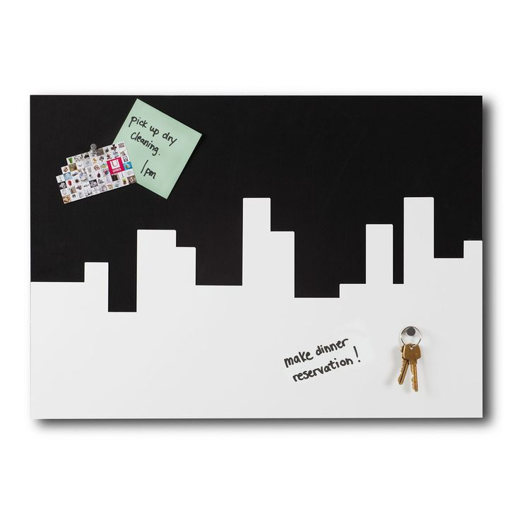 Live it out your big city dreams - and stay organized with this chic Skyline Memo / Message Board. Flip it upside down for a different look - and use it to jot down messages, or use magnets to stick notes, concert tix, etc.   http://www.dormify.com/dorm-accessories/desk/skyline-memo-message-board
