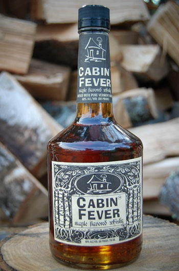 Cabin Fever Whiskey. maple flavored whiskey made in New England.