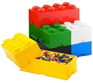 Lego storage containers: Idea, Storage Boxes, Legostorag, Storage Bins, Kids, Lego Storage, Storage Brick, The Container Store, Toys Storage
