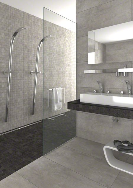 Product: #porcelain #tiles KENION, finish: concrete, setting: #bath