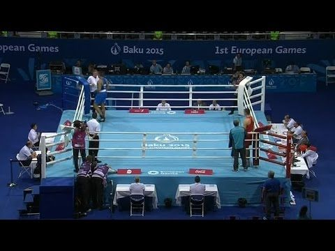 Boxing: Joe Joyce books his place for Team GB in the Baku 2015 Super Heavyweight +91KG Quarter-Finals with a 1st Round KO after 2:58mins. #GoTeamGB