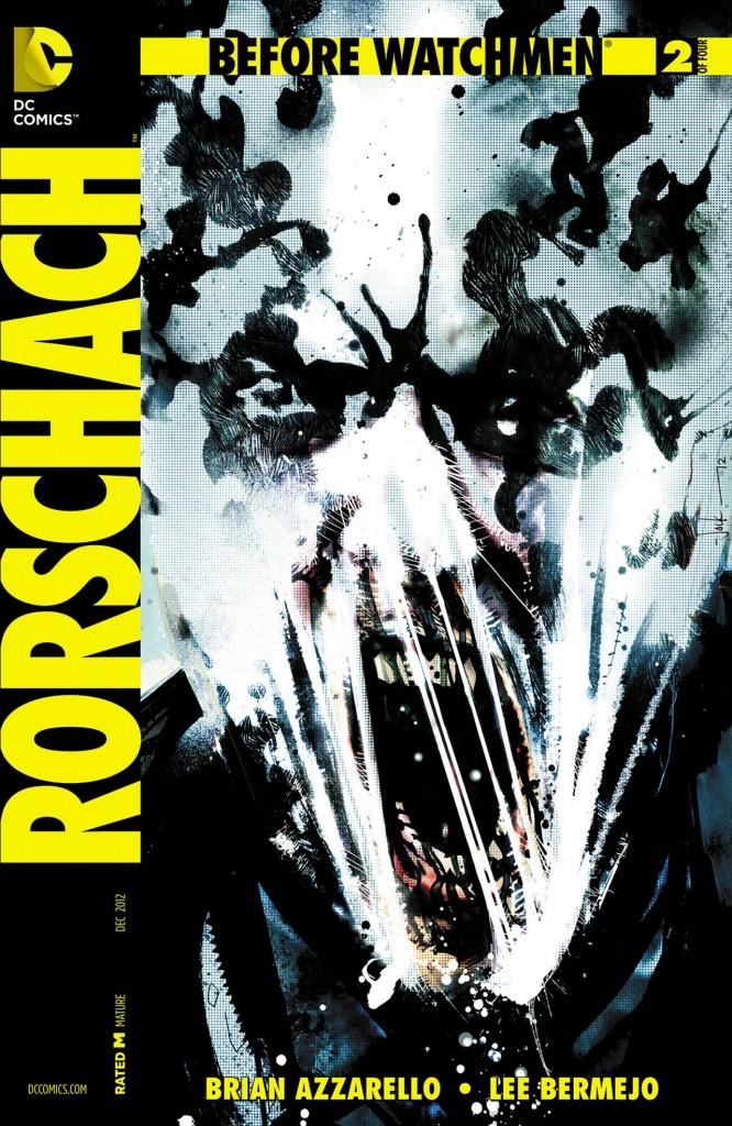 17 best images about dc watchmen countdown 2 destruction on before watchmen rorschach 2 variant cover by jock