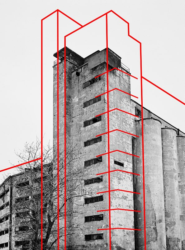Structure lines on building blocks | (via http://www.pinterest.com/AnkAdesign/collection-3/)
