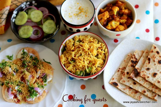 Jeyashri's Kitchen: COOKING FOR GUESTS SERIES #14 | ALOO PARATHA PAPDI...
